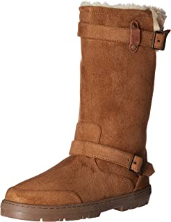 ee3afbf77de760 Onlineshoeltd Ladies Womens Ella Biker Fur Lined Flat Winter Snow Boot -  Chestnut Brown