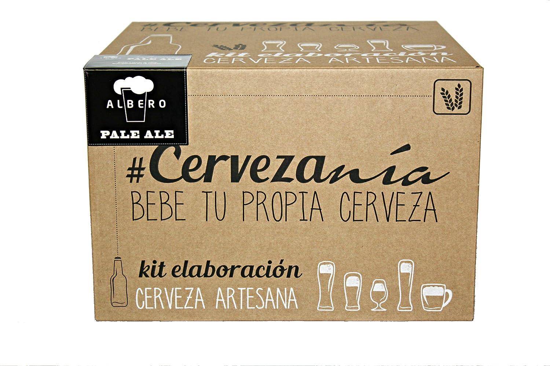 Cervezanía Kit de elaboración de cerveza rubia Pale Ale Elabora litros cerveza