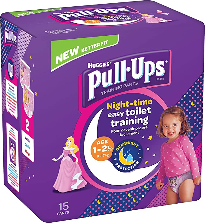 Huggies Pull Ups Night Time Potty Training Culotte fille 1-2,5 ans 60 fils 712 g