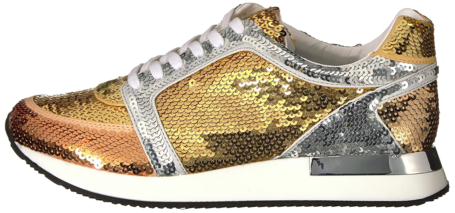 Katy Perry Women's The Lena Sneaker B01NALJ4QN 5 B(M) US|Gold Combo