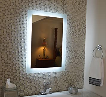 Amazon wall mounted lighted vanity mirror mam92436 24 home amazon wall mounted lighted vanity mirror mam92436 24 home kitchen aloadofball Choice Image
