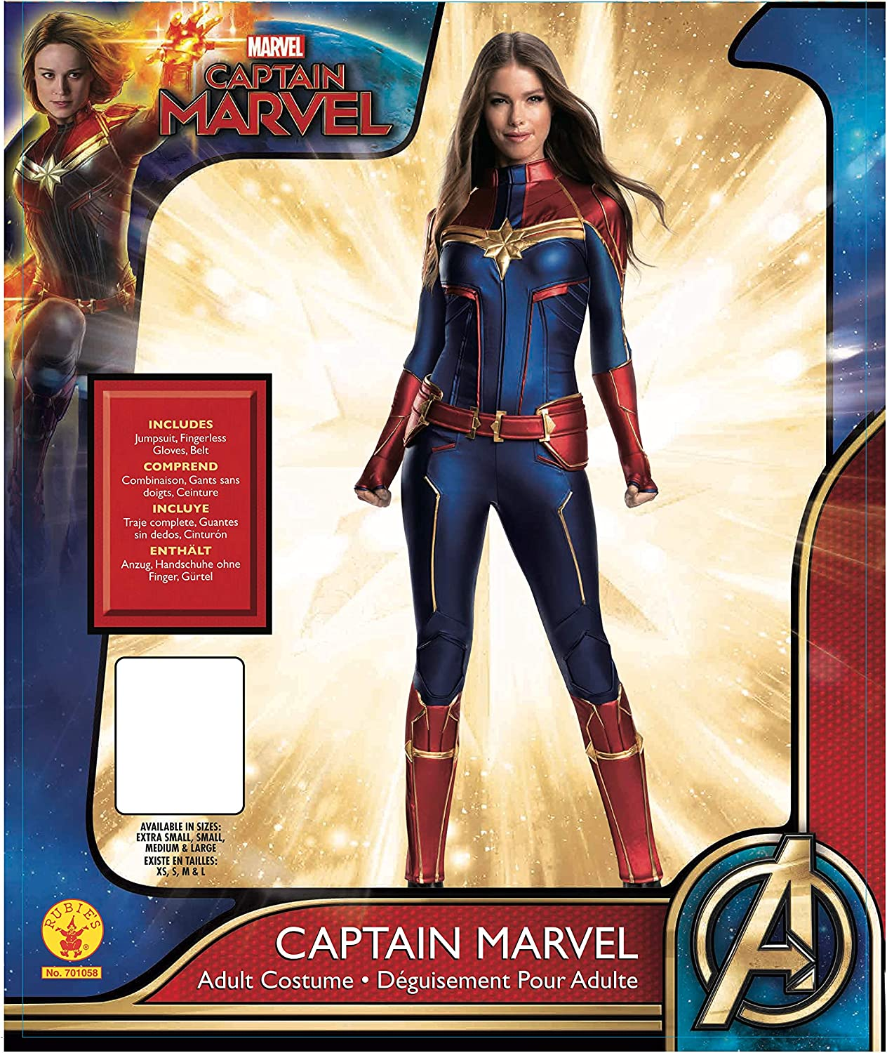 Amazon Com Rubie S Women S Marvel Adult Captain Marvel Adult Grand Heritage Costume Adult Costume Clothing Get your courageous youngster ready for epic adventures as one of the universe's most powerful heroes in this awesome costume inspired by the forthcoming blockbuster, marvel's captain you may experience issues while visiting marvel shop with your current web browser version/configuration. rubie s women s marvel adult captain marvel adult grand heritage costume adult costume
