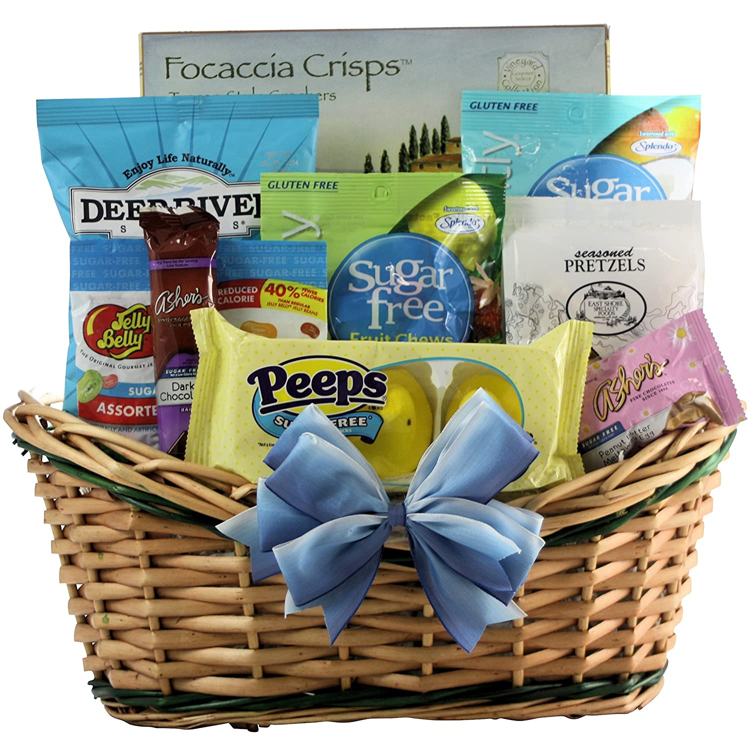 Healthy wishes gourmet sugar free gift basket amazon grocery negle Images