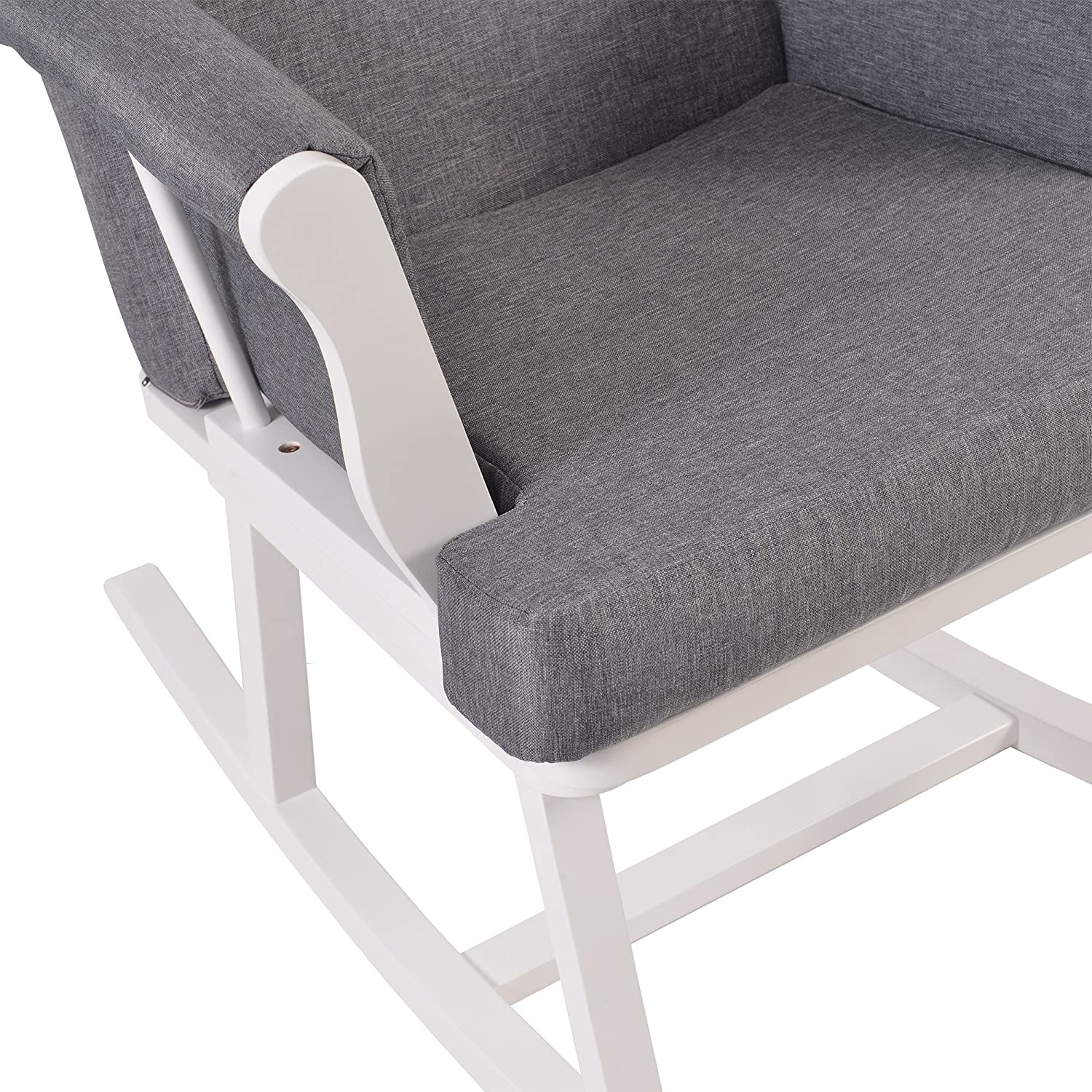 Kub Haldon Nursing Rocking Chair (White) Kub Products Ltd
