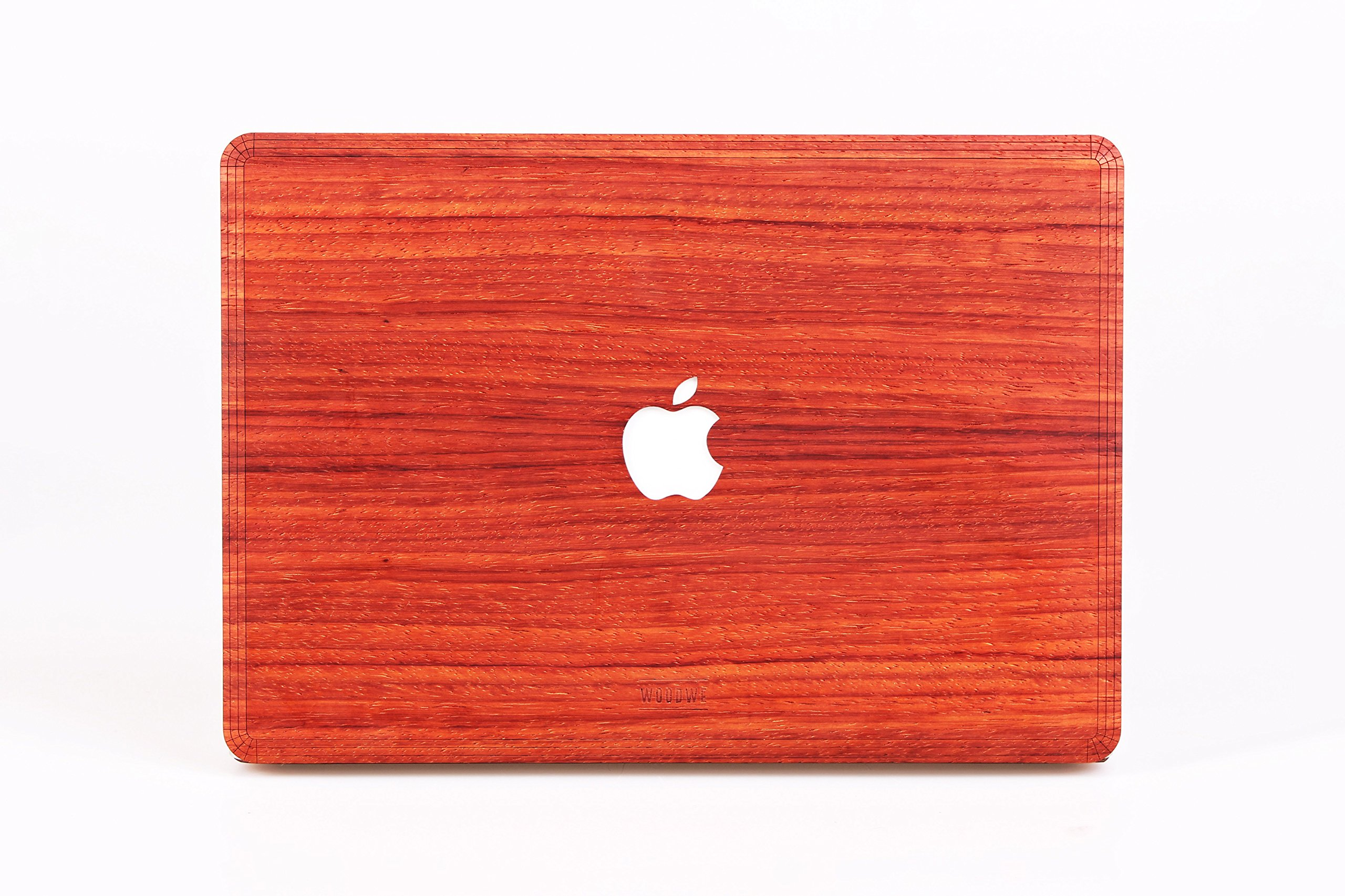 WOODWE Real Wood MacBook Skin Sticker Decal for Mac Pro 13 inch Retina Display | Model: A1425/A1502; Late 2012 – Early 2015 | Genuine & Natural PADAUK Wood | TOP&Bottom Cover