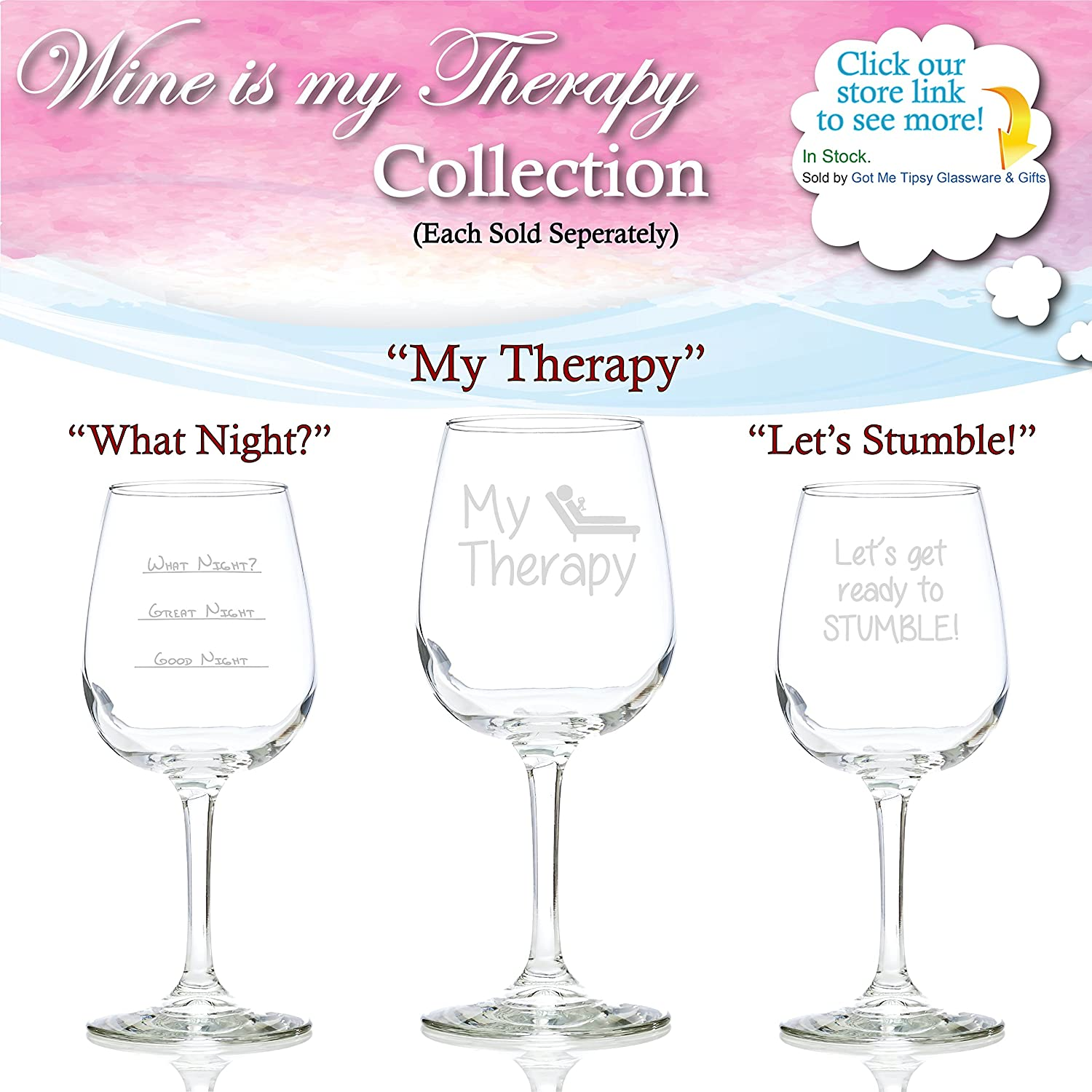 Funny Xmas Gifts For Her Part - 26: Funny Wine Glass 13 Oz - Best Birthday Gifts For Women - Unique Gift For Her  - Novelty Christmas Present Idea For Mom, Wife, Girlfriend, Sister, Friend,  ...