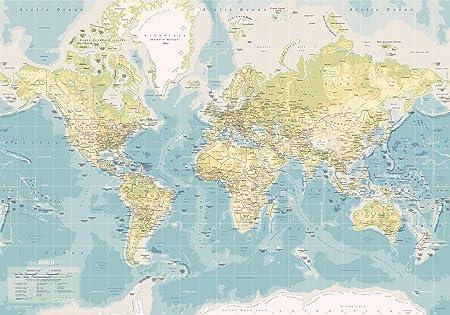 Incado map design 1 piece fine canvas vintage world map amazon incado map design 1 piece fine canvas vintage world map publicscrutiny Choice Image