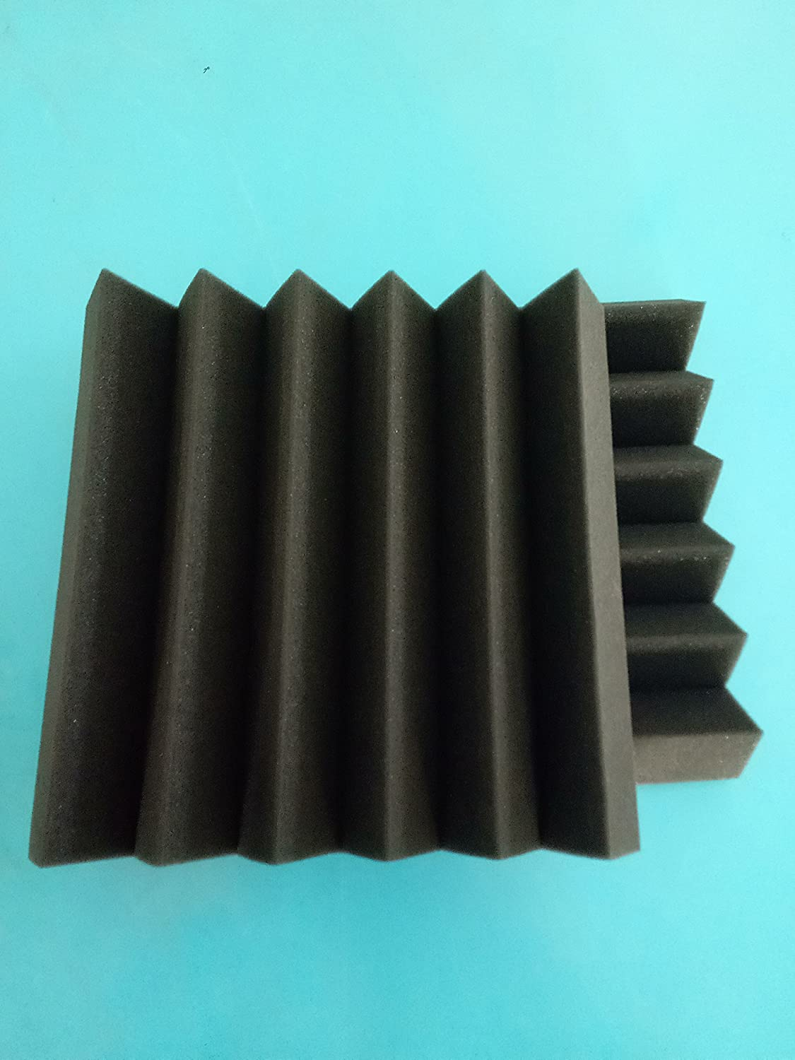 "12 Pack - Acoustic Panels Studio Soundproofing Foam Wedge tiles 2""x12""x12"" Ltd."