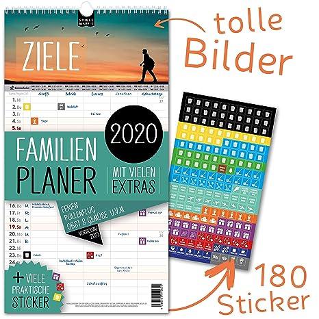 Calendario Allergie 2020.Agenda Familiare 2019 Ziele Per Fino A 5 Persone Con Foglio