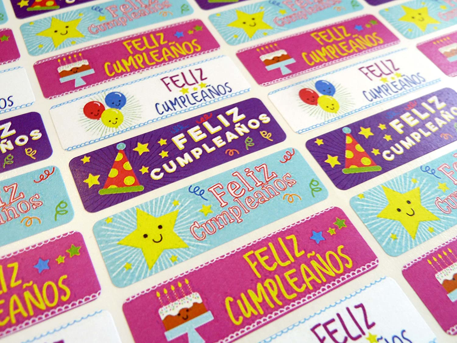 Amazon.com : Pack of 32 Feliz Cumpleanos Spanish Birthday ...