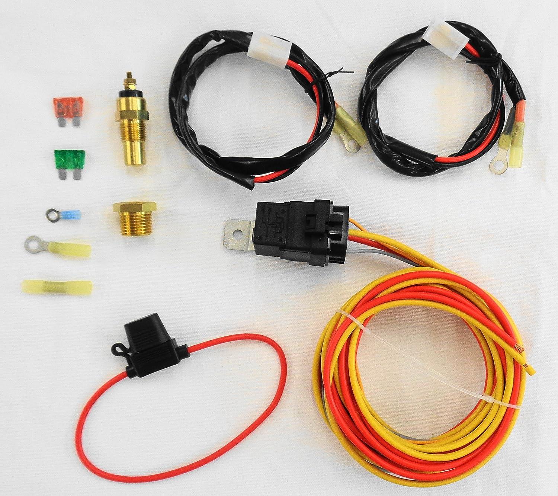 Superb Amazon Com New Dual Electric Cooling Fan Wiring Install Kit 185 165 Wiring Cloud Planhouseofspiritnl