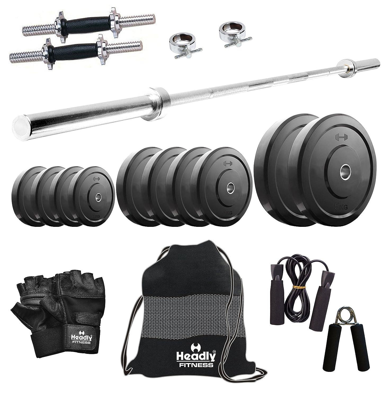 da591b4aaff Headly 40 Kg Combo 9 Home Gym  Amazon.in  Sports