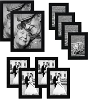 10 piece multi pack black picture frame value set set of 10 picture frames