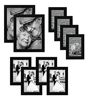 10 piece multi pack black picture frame value set set of 10 picture frames