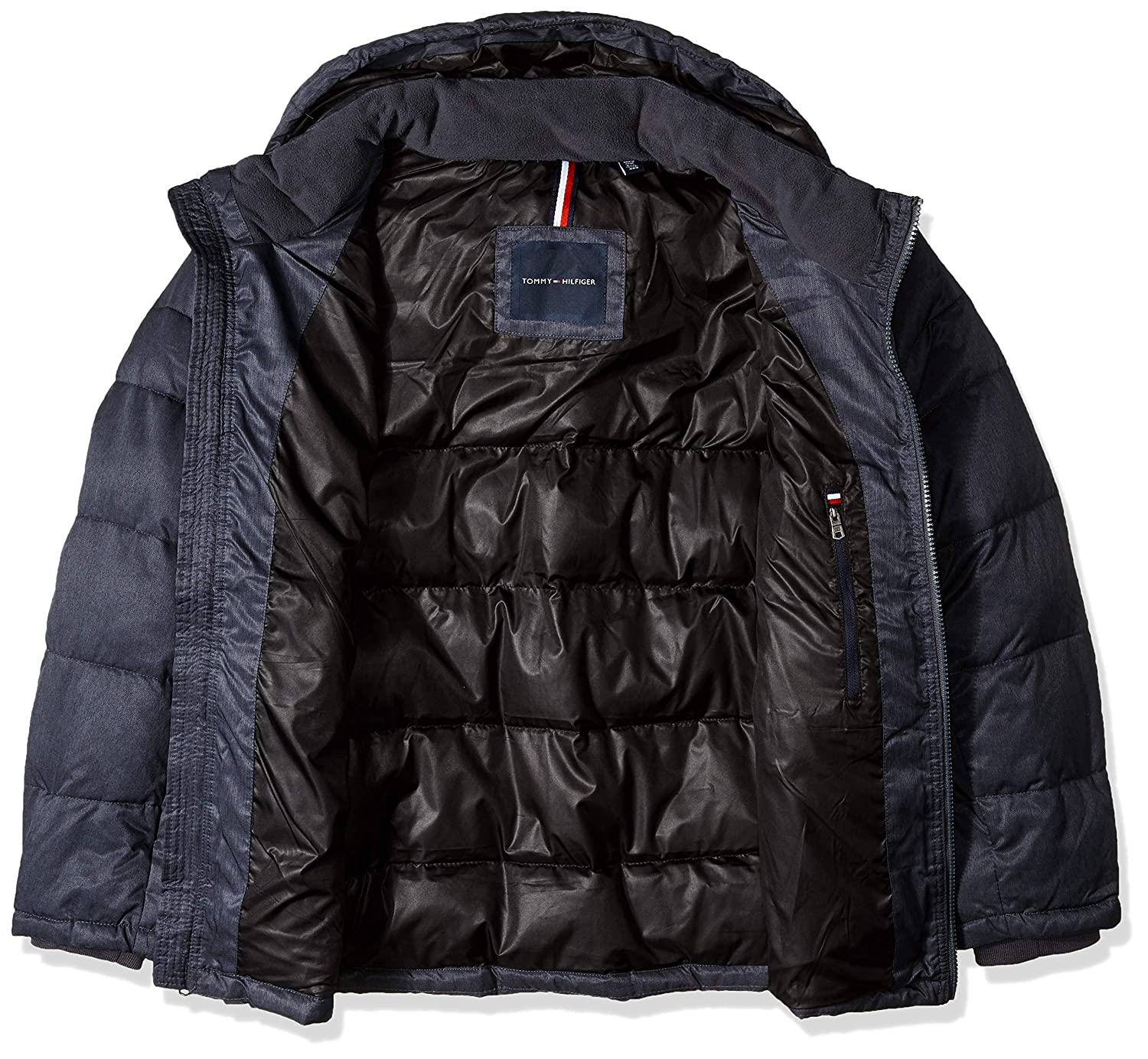 Tommy Hilfiger Mens Big and Tall Classic Hooded Puffer Jacket