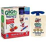 GoGo squeeZ YogurtZ, Strawberry, 4 Pouches