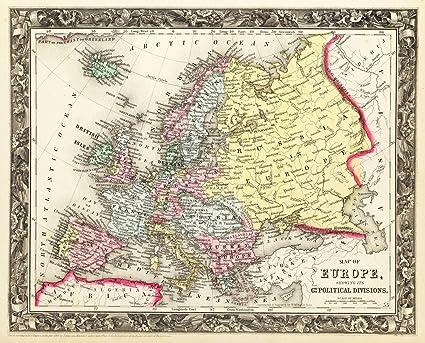 Amazon.com: Historic Map | World Atlas | 1860 Map of Europe ... on map of europe world war ii, map of europe 1850, map of europe 1946, map of europe 1805, map of europe 1890, map of europe 1800, map of europe in 1871, map of europe 1944, map of europe 1840, map of europe 1912, map of europe bodies of water, map of europe 1900, map of europe 1870, map of europe 1880, map of europe 1875, map of europe in 1865, map of europe 1938, map of europe 1939, map of europe 1648, map of europe 1914,