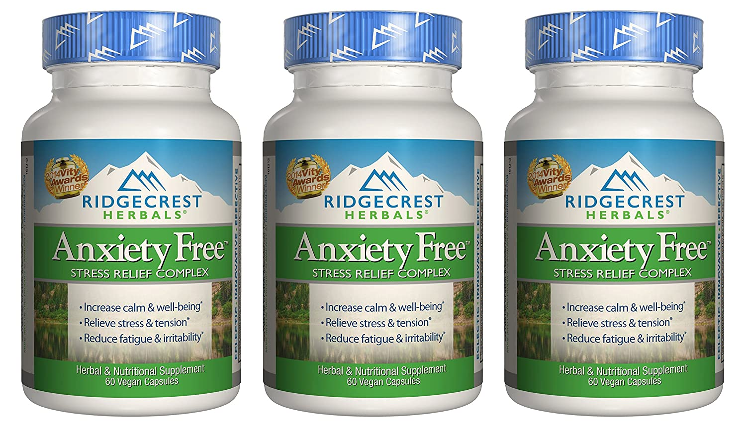 Ridgecrest Anxiety-Free, 60 Count 3 Pack