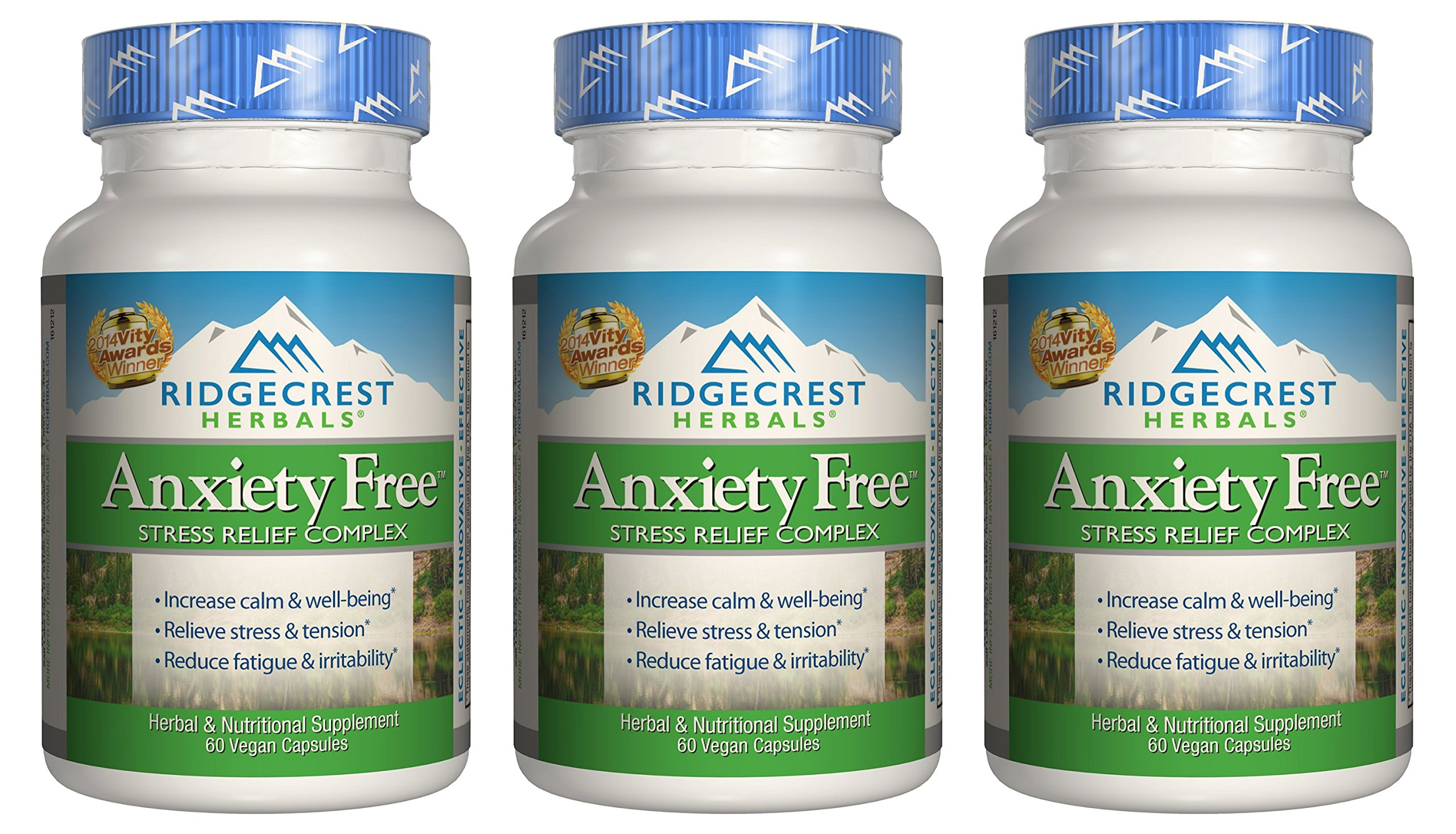 Ridgecrest Anxiety-Free, 60 Count (3 Pack)