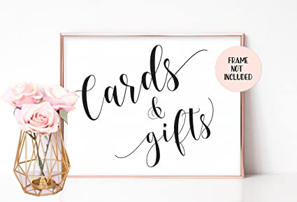 Amazon Cards And Gifts Sign Wedding Gift Table Sign Cards
