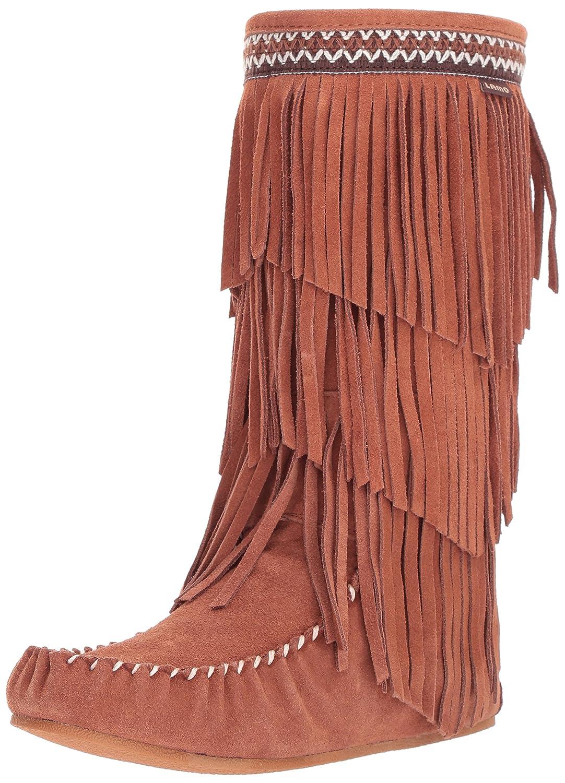 Lamo Women's Virginia Fringe Boot, Slouch Boots Calf -Chestnut B06XJRW8NS 5 B(M) US|Chestnut