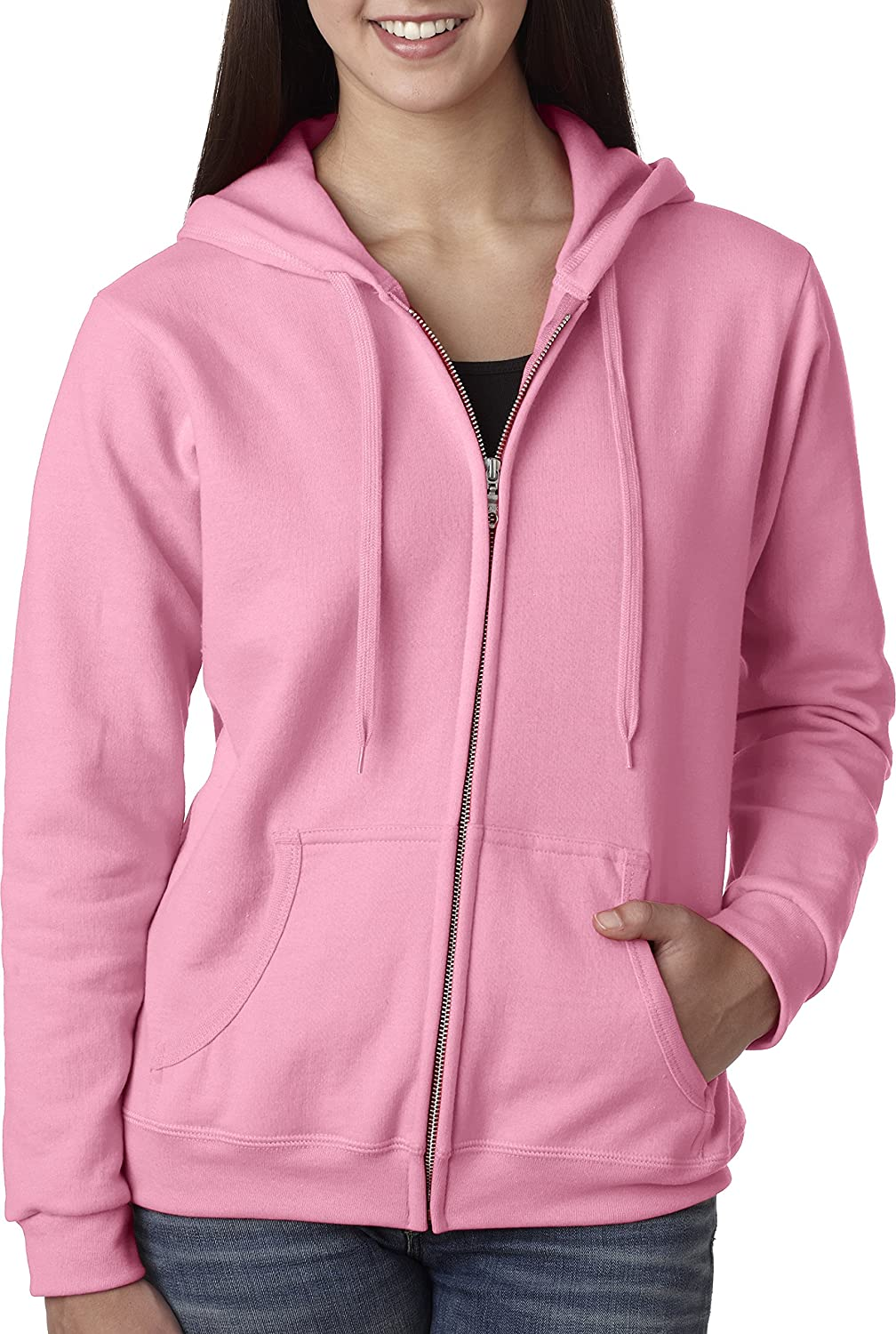 Gildan Women's Heavy Blend Full-Zip Hooded Sweatshirt at Amazon ...