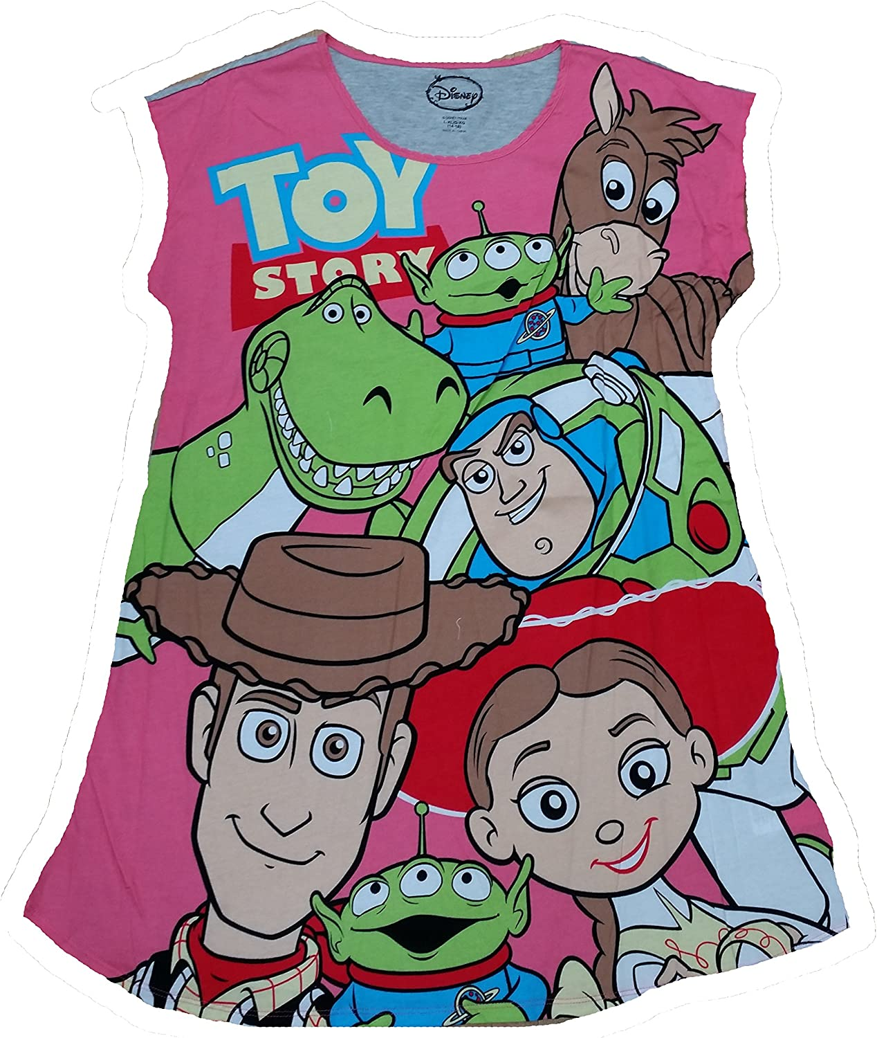 Disney Toy Story Nightgown Long Sleep Tee Shirt