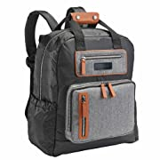 JJ Cole - Papago Pack Diaper Bag, Large Capacity Backpack Style with Stroller Clips, Changing Pad, and Multiple Pockets for Baby Supplies, Herringbone Tweed
