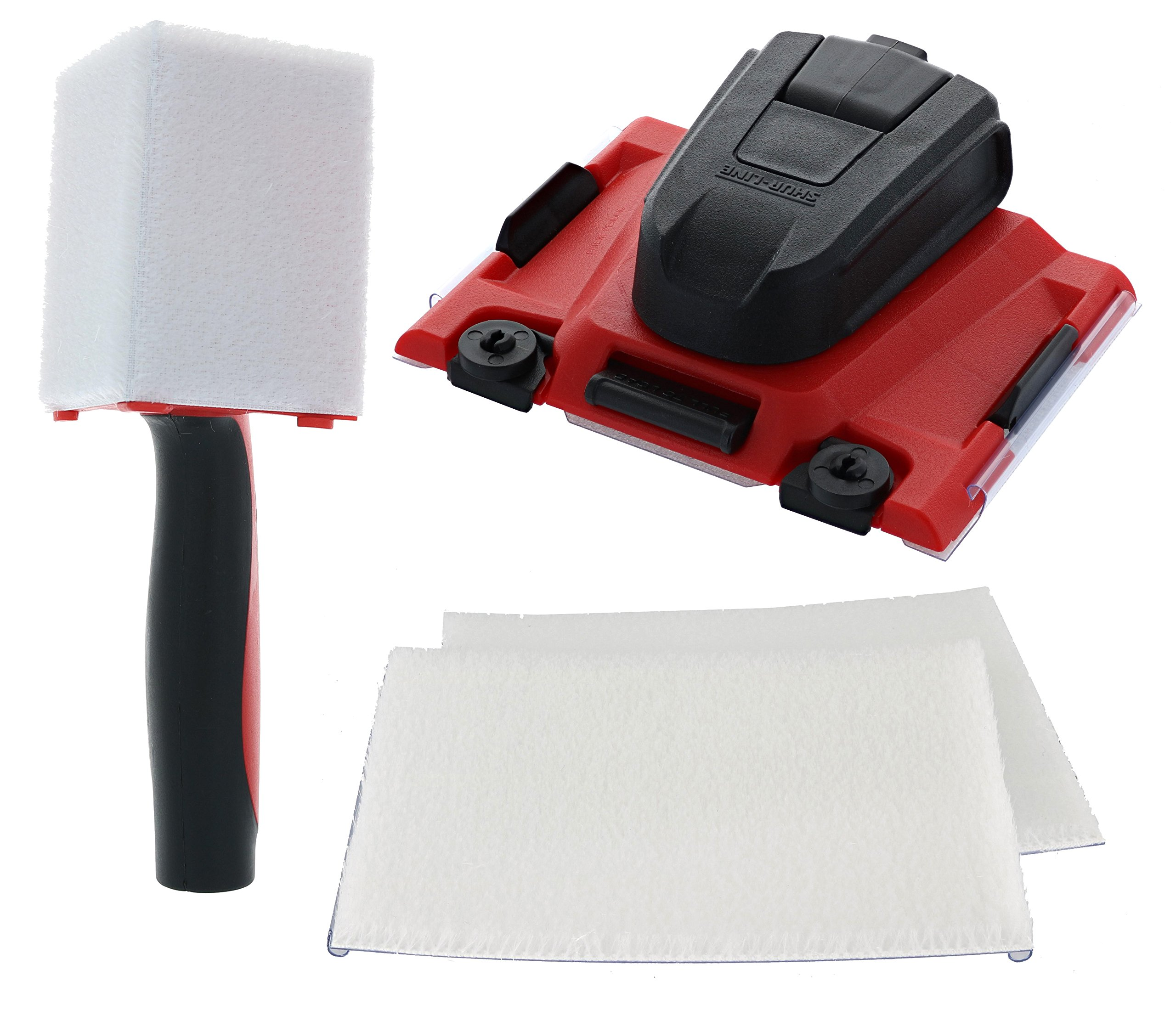Shur-Line Painter Triple Painter's Pack Including: 1 x Shur-Line 2006561 Paint Edger Pro, 1 x Shur-Line 1575H Corner Painter, and 1 x Replacement Pad Pack by Shur-Line