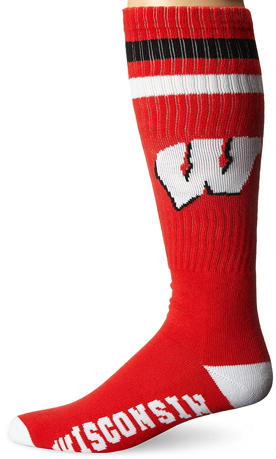 Donegal Bay NCAA Wisconsin Badgers Tube Socks Red