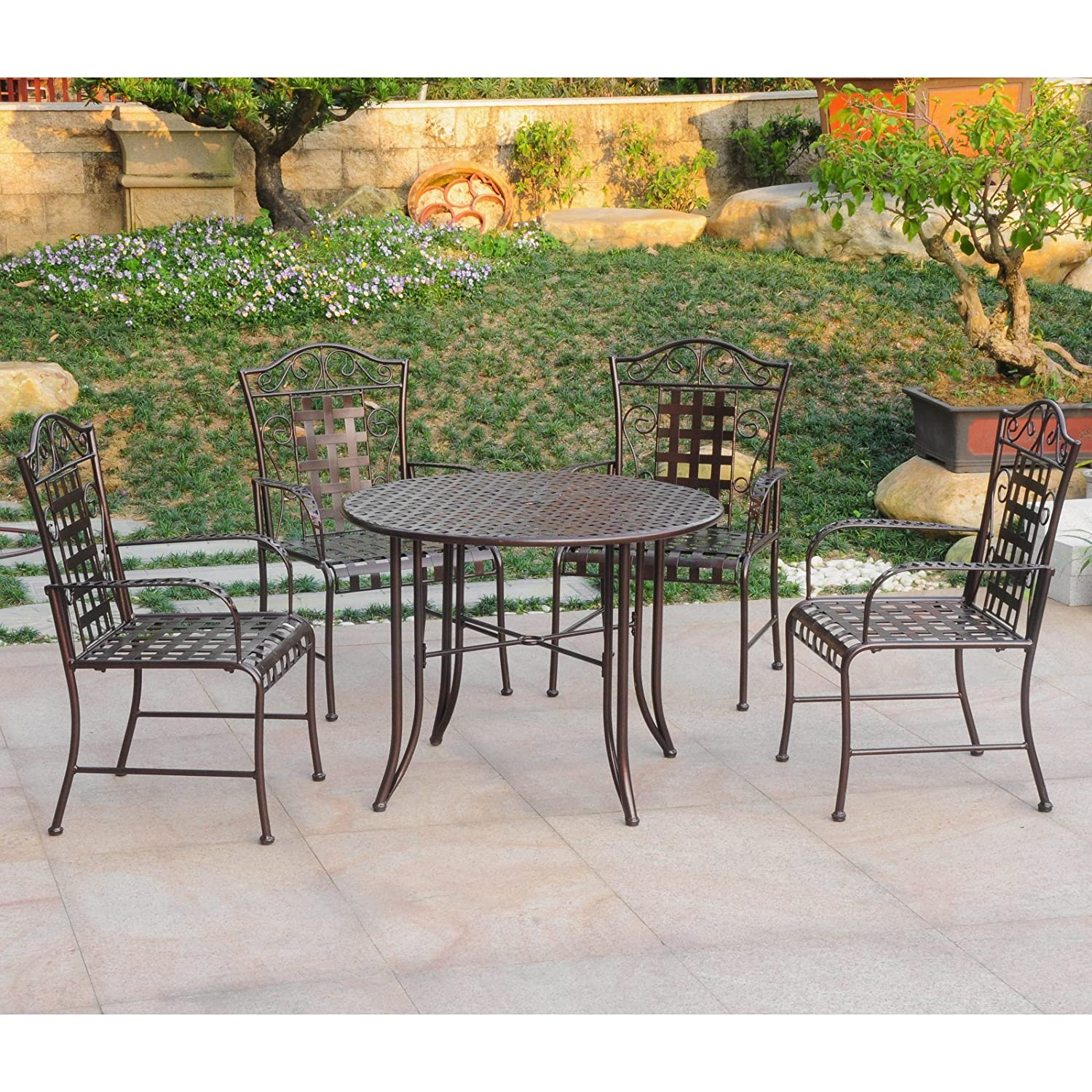 Elegant Wrought Iron Patio Chairs
