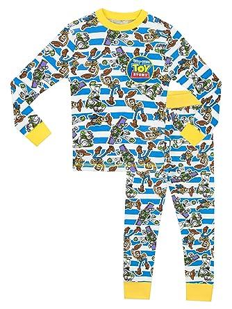 dd2153b036 Disney Toy Story Boys Toy Story Pyjamas - Snuggle Fit - Age 3 to 4 Years   Amazon.co.uk  Clothing
