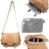 DURAGADGET Sacoche de transport pour appareil photo Fujifilm Instax 210 Instant, Instax MINI 8, X-T1, FinePix SL1000, SL260 et HS25EXR - toile résistante beige et multipoches