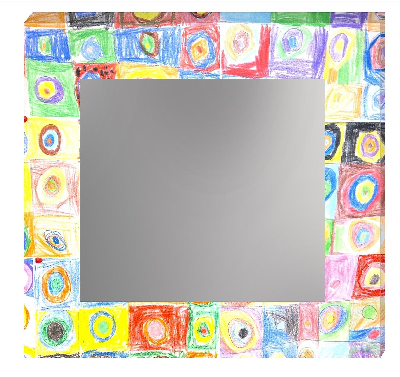 Multicolore 60/x 60/x 5,3/cm Ccretroiluminados Kandinsky Specchio da Bagno Illuminato Acrilico