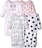 Gerber Baby-Girls 4-Pack Gown Long Sleeve Infant-and-Toddler-Nightgowns
