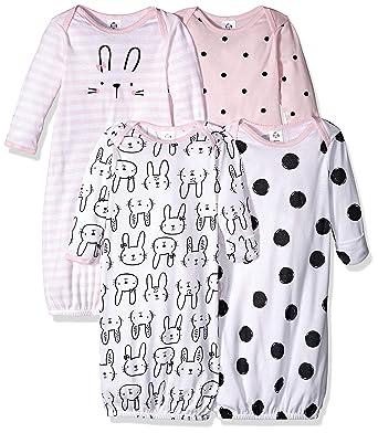 fcdbaf0cadad0 Amazon.com  Gerber Baby Girls  4-Pack Gown  Clothing