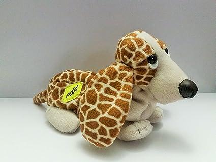 Amazoncom Hush Puppies Animal Print Bean Plush Basset Hound Dog By