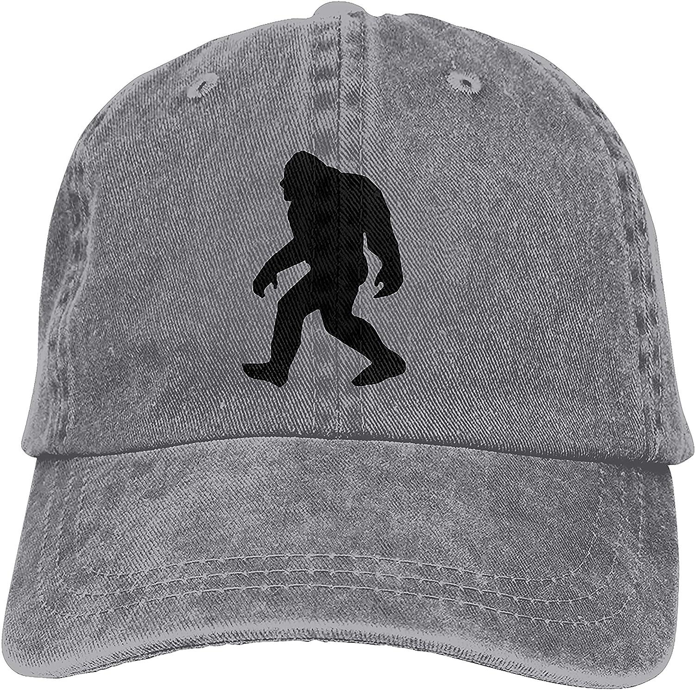 Denim Cap Bigfoot Sasquatch Baseball Dad Cap Adjustable Classic Sports for Men Women Hat
