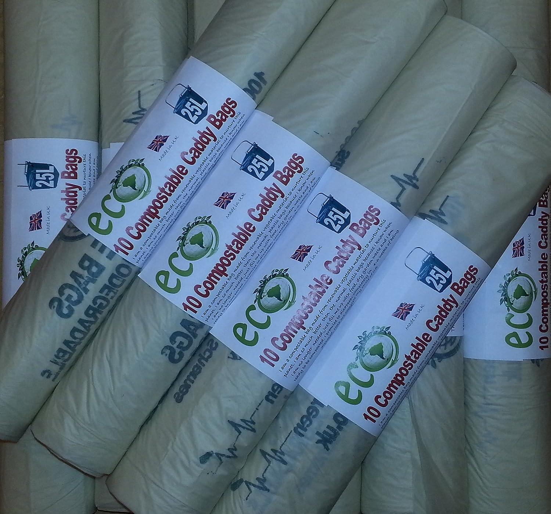 Sacs compostables 25 l Trottoir Caddy liners- Poubelle Sacs ...