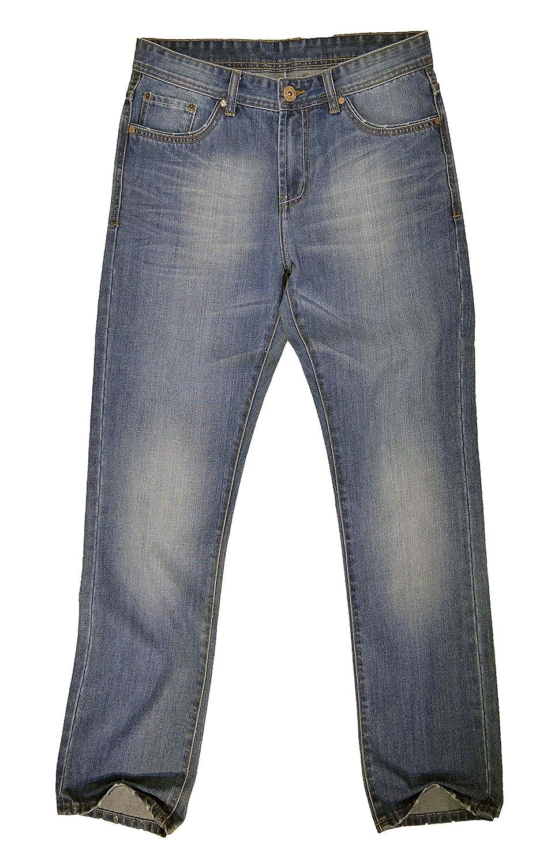 #M2061-M2093 Men's Relax Straight Leg Stylish Wash Premium Jeans Size: 32 x 32