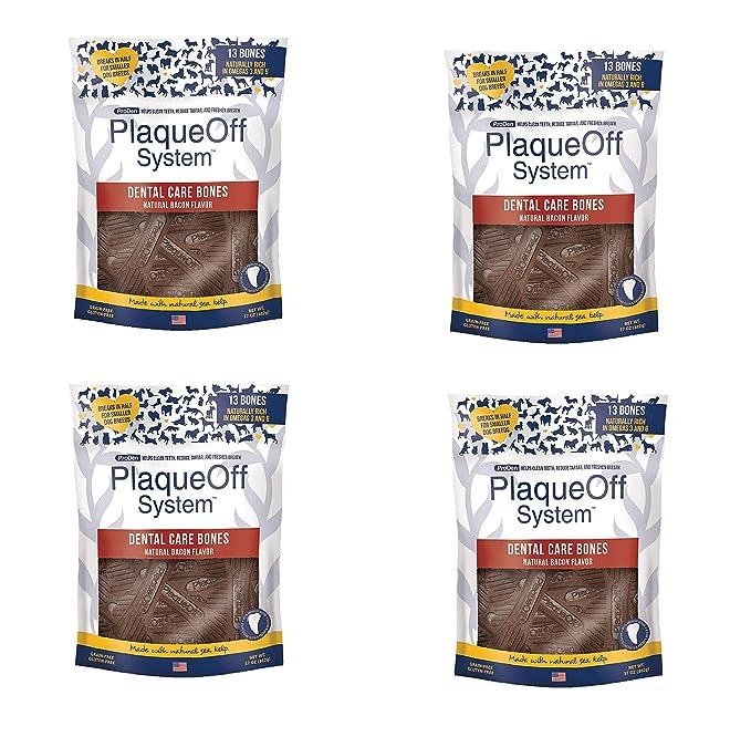 Amazon.com : Proden PlaqueOff Dental Bones Bacon 17 Ounce (2 Pack) : Pet Supplies