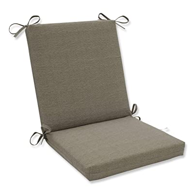 Pillow Perfect Indoor/Outdoor Taupe Textured Solid Square Chair Cushion: Home & Kitchen