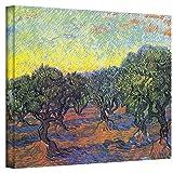 ArtWall Vincent Vangogh's Olive Grove with Orange