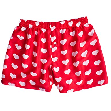 Silk Heart Boxers By Royal Silk Valentine S Day White On Red