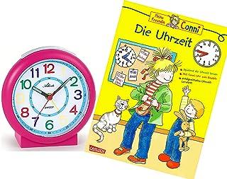 Sveglia per bambini senza ticchettio, rosa con libro educativo Conni (lingua italiana non garantita) – 1917-8 BU