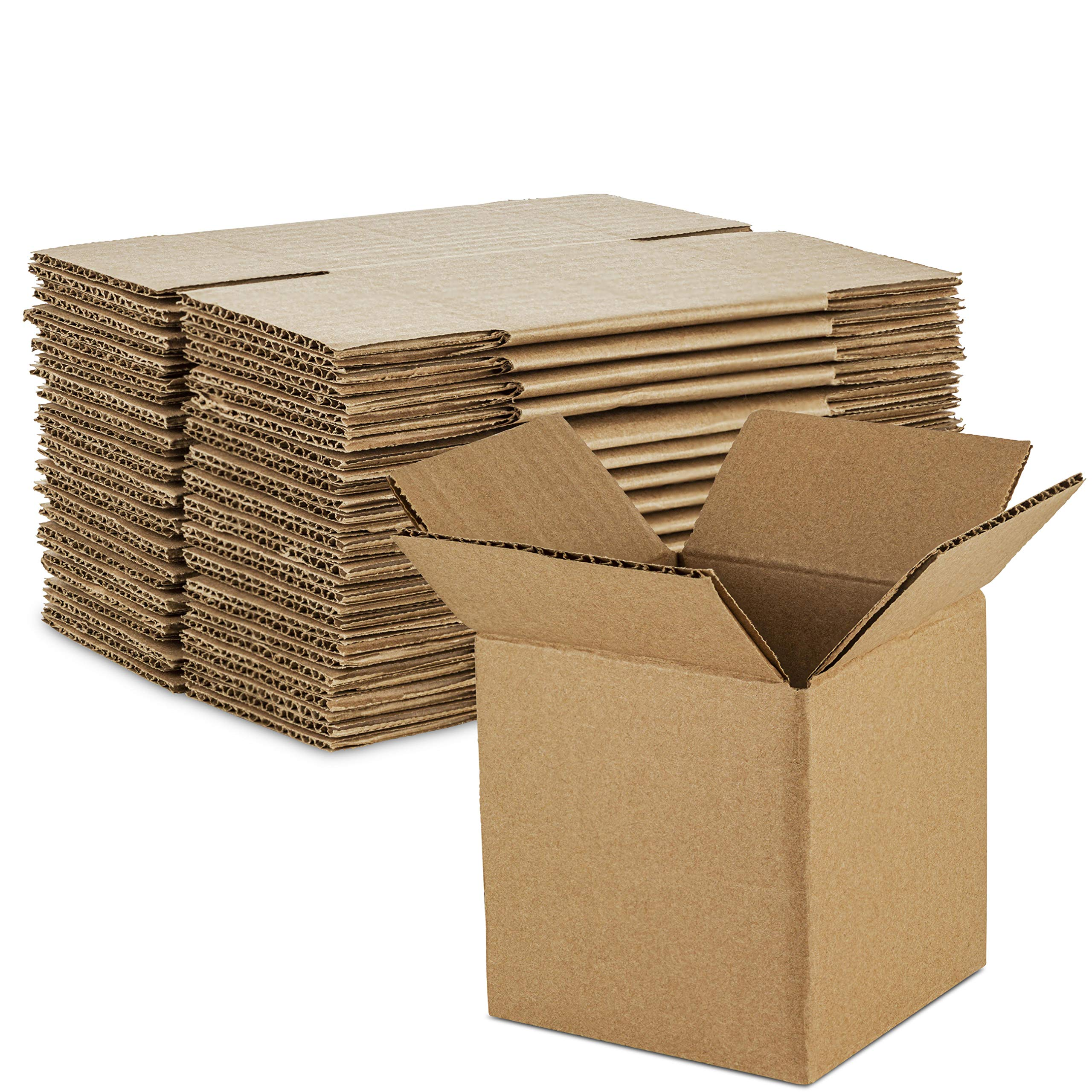 4 Length x 4 Width x 4 Height, Pack of 25 Pratt PRA0001 Recycled Corrugated Cardboard Single Wall Standard Cube Box with C Flute