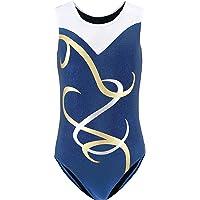 Leotards for Girls Gymnastics Long Sleeved Metalic Tank Toddlers 5-12Y Dancewear