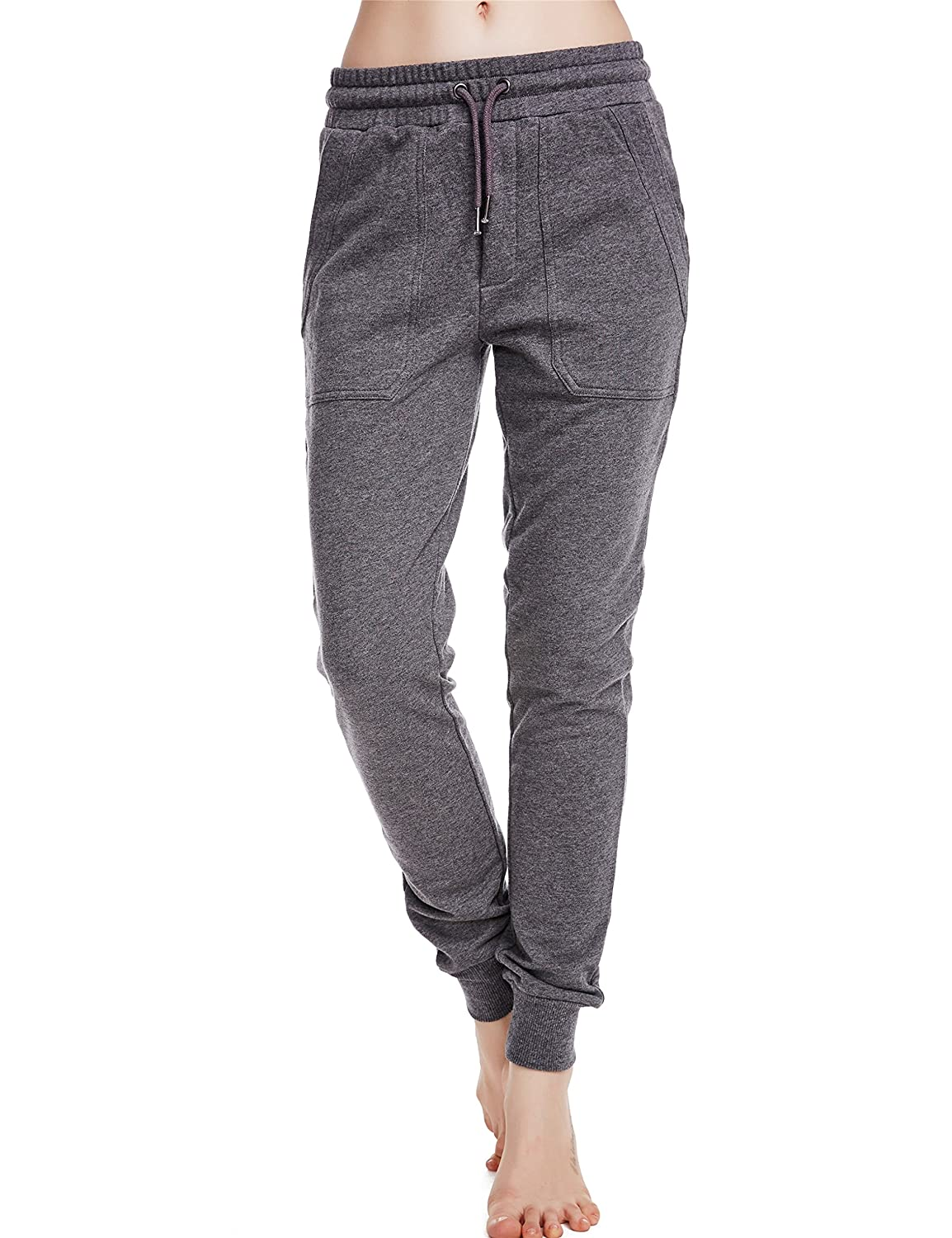 9b54e9a6e5bb3 Amazon.com  icyzone Women Sweatpants Joggers Activewear Workout Running Pants  with Pockets  Clothing