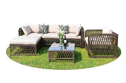Amazon Com Gojooasis Luxury Outdoor Patio Pe Wicker Rattan Sofa