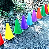 Dazzling Toys Assorted Colors Plastic Indoor/outdoor Flexible Cone Traffic Cones - Pack of 24 7 Inch Cones
